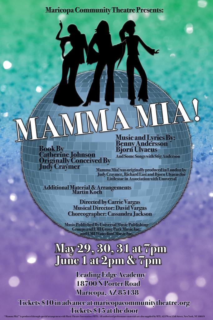 Mamma Mia Show Poster